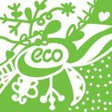 Eco background with symbols Stock Photos