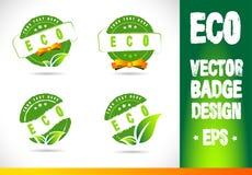 Eco Badge Logo Vector Royalty Free Stock Image