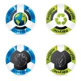 Eco badge set Stock Photography