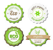 Eco Badges Royalty Free Stock Photos
