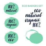 Eco badges constructor and set. Royalty Free Stock Image