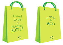 Eco bag. A illustration of green eco bag slogan design Stock Photo