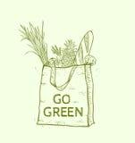 Eco bag with fresh food Stock Image