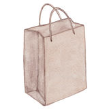 Eco bag with handle Royalty Free Stock Images