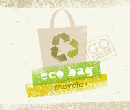 Eco Bag Recycle Vector Concept on Organic Paper Background Royalty Free Stock Photo