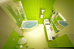 Eco, bamboo bathroom Royalty Free Stock Image