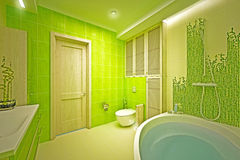 Eco, bamboo bathroom Royalty Free Stock Images