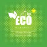 Eco baner Arkivfoton
