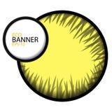 Eco baner med guling för rundagrå färggräs Arkivbilder