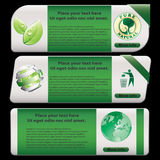 Eco banner. Set, isolated on white Stock Photography