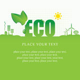 Eco banner. Of alternative energy sources Royalty Free Stock Photos