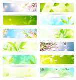 Eco banner set royalty free illustration