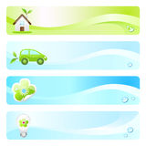Eco banners. Four eco-friendly banners for web or print usage Royalty Free Stock Photos