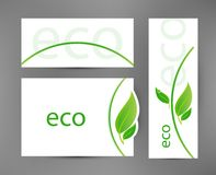 Eco Banners Templates Stock Photography