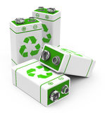 The eco batteries Royalty Free Stock Photo