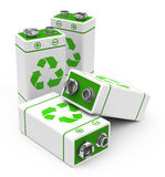 The eco batteries. 3d generated picture of a eco concept vector illustration