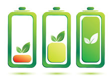 Eco battery charge level Stock Photography