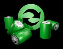 Eco battery Royalty Free Stock Image