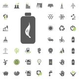 Eco battery icon. Eco and Alternative Energy vector icon set. Energy source electricity power resource set vector. Eco battery icon. Eco and Alternative Energy Royalty Free Stock Photo