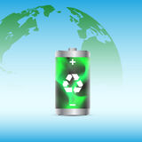 Eco battery Royalty Free Stock Photography