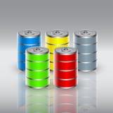 Eco battery Stock Photo