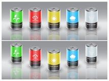 Eco battery Royalty Free Stock Photo