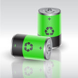 Eco battery Stock Image