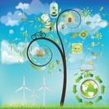 Eco Baum Stockbilder