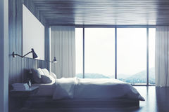 Eco bedroom with poster, side, toned Stock Image