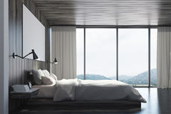 Eco bedroom with poster, side Stock Images