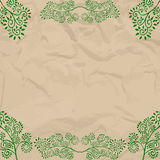 Eco beige wrapping design. With leaves Royalty Free Stock Photos