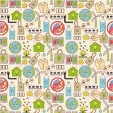 eco bezszwowy deseniowy Zdjęcie Stock