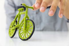 Eco Bicycle Royalty Free Stock Photography