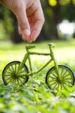Eco Bicycle concept Stock Photos
