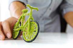 Eco bicycle concept Royalty Free Stock Image