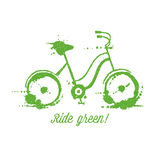 Eco bicycle vector illustration Stock Photography