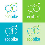 Eco bike icon - Icon, symbol for ecological and electric bikes. Royalty Free Stock Photo
