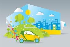 Eco bil Fotografering för Bildbyråer