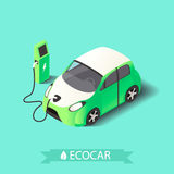 Eco bil royaltyfri illustrationer