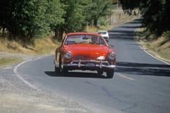 Eco bilar i sol- och energiexpo samlar, CA Royaltyfria Bilder