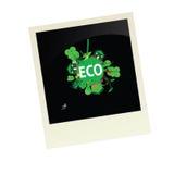 Eco-Bild-Vektorillustration Stockbilder