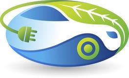 Eco billogo stock illustrationer