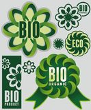 Eco & bio. Set of eco & bio badges and labels Stock Images