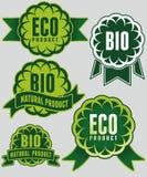 Eco & bio. Set of eco & bio badges and labels Royalty Free Stock Photos
