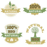 Eco Bio Badge's. Natural product badge,great for print,web or presentation Stock Photos