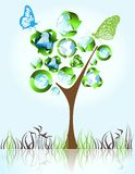 Eco, bio, green and recycle symbols Royalty Free Stock Images