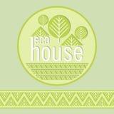 Eco bio hem- dekorativ naturlig materialembema Royaltyfria Foton