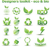 Eco and bio icons. A set of eco and bio icons Royalty Free Stock Photo