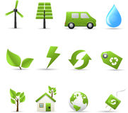Eco and bio icons Royalty Free Stock Photography