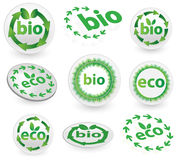 Eco and Bio Icons Royalty Free Stock Images